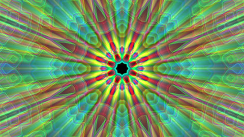 Burst Rays Complex Magic Psychedelic Kaleidoscope VJ Motion Background Loop 3 Animation
