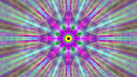 Burst Rays Complex Magic Psychedelic Kaleidoscope VJ Motion Background Loop 4 Animation