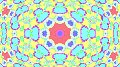 Light Pastel Ornate Psychedelic Kaleidoscope VJ Motion Background Loop 1 Animation