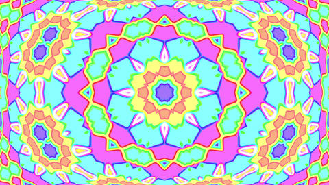 Light Pastel Ornate Psychedelic Kaleidoscope VJ Motion Background Loop 4 Animation