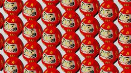 Red Daruma dolls on white background Animation