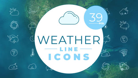 Weather Icons After Effects Template