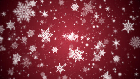 Beautiful Winter Snowflakes and Particles Motion Background Animation