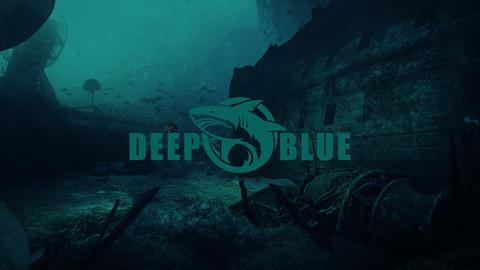 Deep blue underwater logo Apple Motion Template