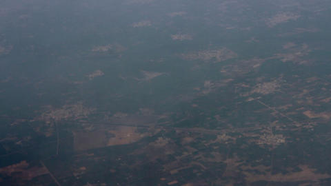 Indian territory near Delhi. View from bird flight ビデオ