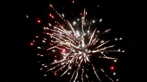 New Year fireworks on night sky Live Action