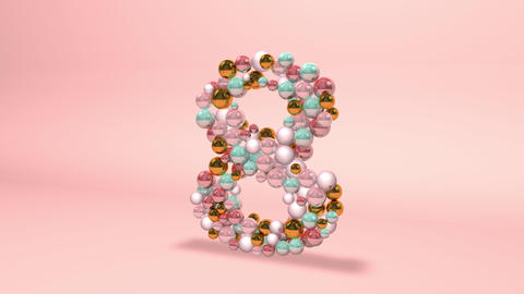 Number 8 eight beads digit beads pearls beads number 8 eight balls alphabet balls pearls number 8 Animation