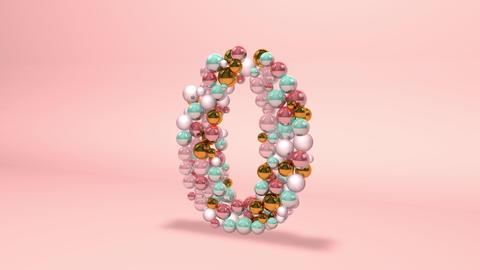 Number 0 zero beads digit beads pearls beads number 0 zero balls alphabet balls pearls ball number 0 Animation