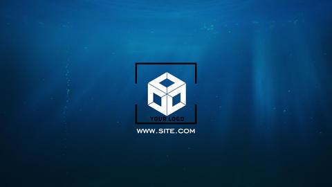 Underwater shape bubbles logo Apple Motion Template