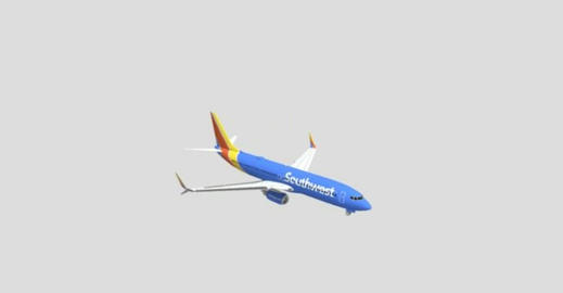 Southwest airlines boeing 737 3D Model