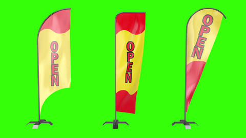 Flag feather open feather flag feather store advertisement open advertisement bowflag pole Animation