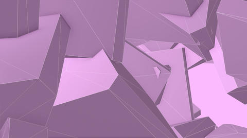 Abstract Pink Angular Polygons Retro Futuristic 3D Motion Background VJ Loop 3 Animation
