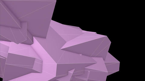Abstract Pink Angular Polygons Retro Futuristic 3D Motion Background VJ Loop 4 Animation