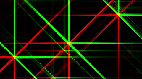 Red Green Night Abstract Lights Flashes Rays Stars VJ Motion Background Loop Animation