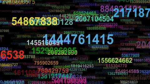 Random numbers data flow seamless loop Animation