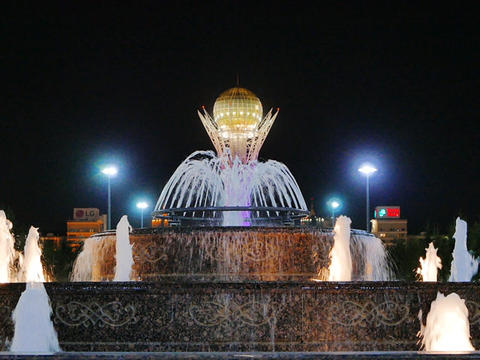 Baiterek - The central interesting place of the new Astana, in the light of nigh Live Action