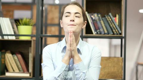 Woman praying to God, Wishing Footage