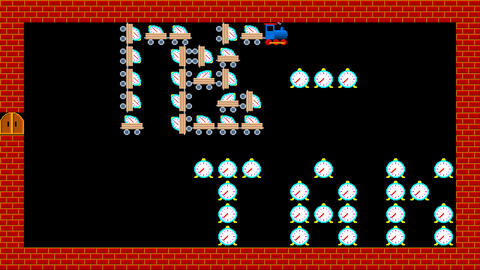Train puzzle, retro style low resolution pixelated game graphics animation Animation