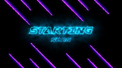 starting soon glow text glow neon sign starting soon advertising text advertising neon Animation