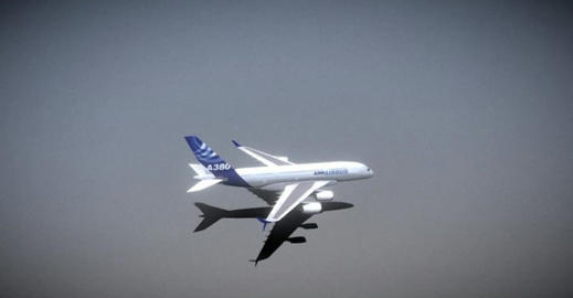 A380 with a380plus winglet 3D Model
