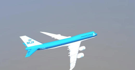 Boeing klm 3D Model