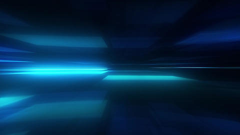 Glowing Blurred Light Rays Loop Motion Background - Blue Color Animation