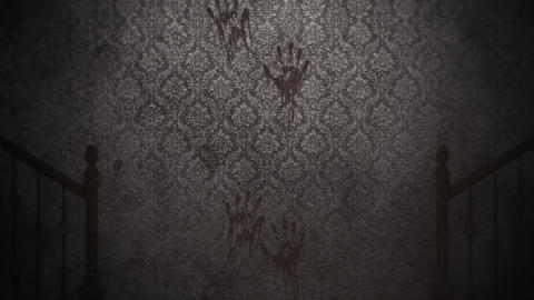 Mystical horror background with dark hall of room, abstract horror backdrop Animation