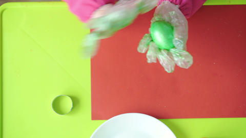 Easter, Passover, childhood, creativity, games concept - closeup of little cute Live Action