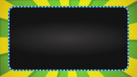 Yellow-green / yellow radiation background animation / light blue illuminated frame / text space Animation