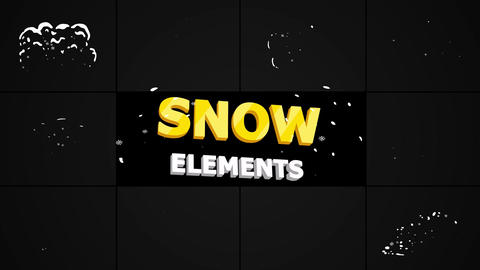 Cartoon Snow Explosions After Effects Template