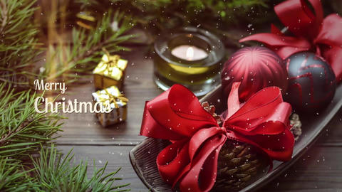 Christmas Slideshow // Final Cut Pro Apple Motion Template