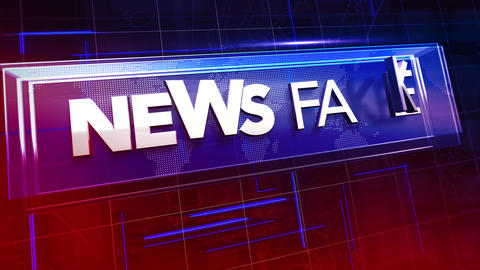 Animation text Fake News and news intro graphic with lines and map in studio Animation