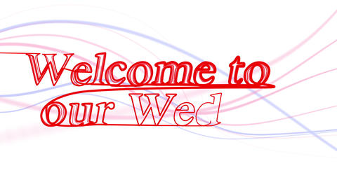 Welcome to our Wedding Animation