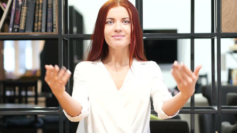 Inviting, Invitation Gesture by Woman, Indoor Live Action
