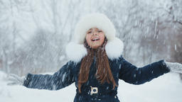The Joy of Winter. Playing With Snow GIF
