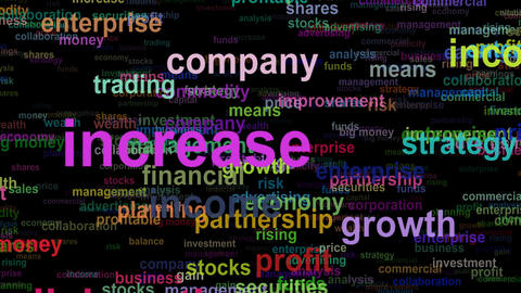 Business concept words, seamless loop GIF