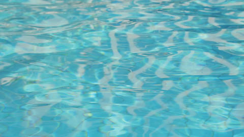 Beautiful refreshing blue swimming pool water Footage