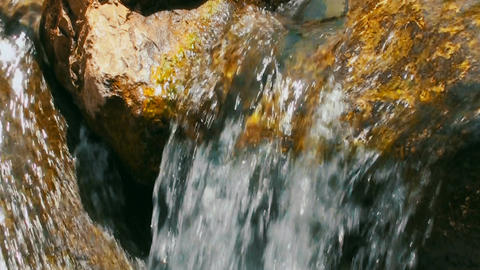 Close up of natural waterfall of a fast stream Footage