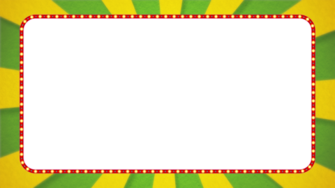 Yellow-green / yellow radiation frame animation / red illumination / with alpha Animation