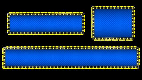 Cool telop base with illuminated animation, blue, square Animation