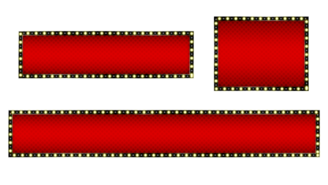 Cool telop base with illuminated animation, red, square Animation