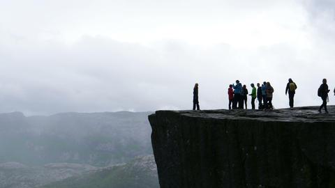 Preikestolen in Norway Landscape Timelapse in 4K Ultra High Definition Live Action