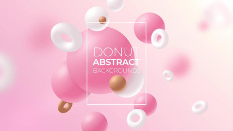 Donut Abstract Backgrounds After Effects Template