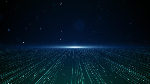 Particles blue green event game trailer titles cinematic concert stage background loop Animation