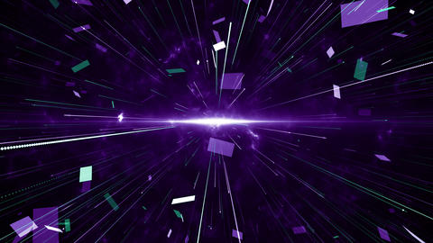 Particles violet green event game trailer titles cinematic concert stage background loop Animation