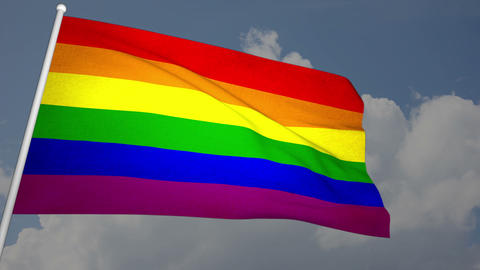 Gay Flag 03 Stock Video Footage