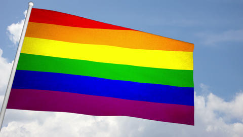 Gay   Flag  03 stock footage