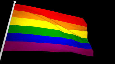Gay Flag 01 Stock Video Footage