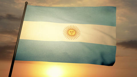 Flag Argentina 05 Stock Video Footage