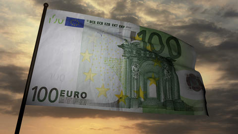 100 Euros bill flag 03 Animation